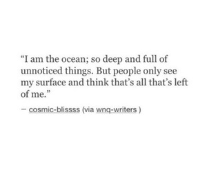 ocean, sad, and depressed image