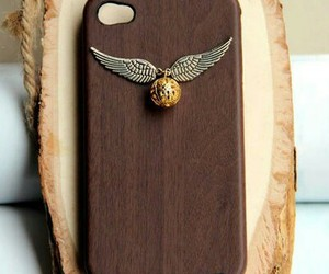 harry potter, iphone, and wood image