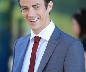 grant gustin, the flash, and glee image