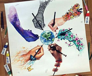 art, colours, and world image