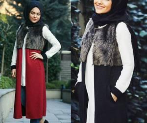 hijab, look, and tesettür image