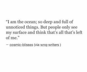 quotes, ocean, and deep image