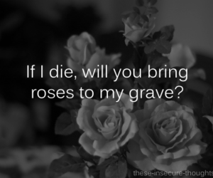 black and white, die, and grave image
