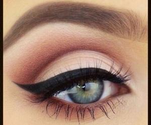 eye lashes, eyebrows, and eyeliner image