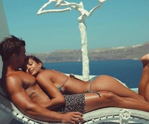 beach, bikini, and bf image