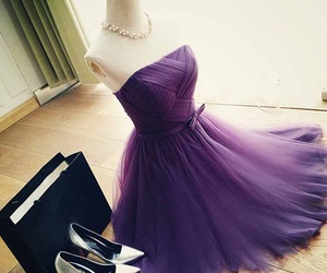 dress, purple, and shoes image