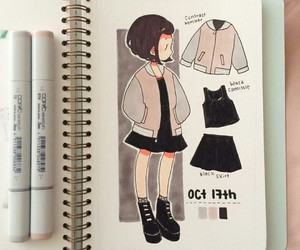 deviantart, draw, and outfit image