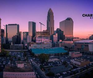 aerial photography, charlotte, and nc image