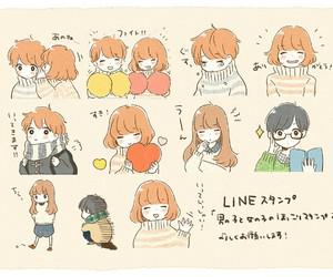 anime couple, kawaiii, and cute image