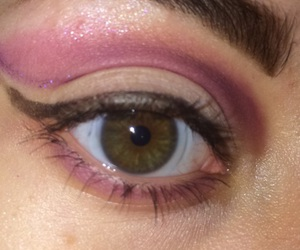 eye makeup, mascara, and purple image