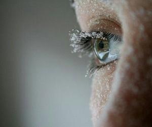 eye, ice, and winter image