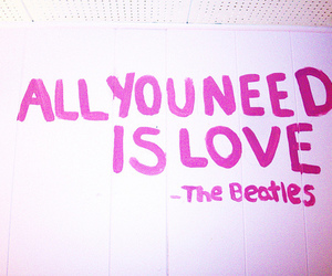 beatles, quote, and pink image