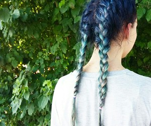 beautiful, blue, and hair image