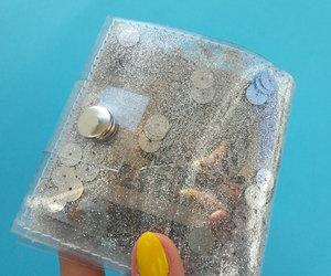etsy, vegan wallet, and glitter wallet image