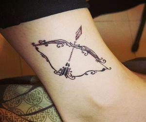 bow and arrow tattoo image