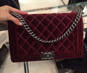 bag, burgundy, and chanel image