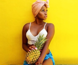 African, pineapple, and Queen image
