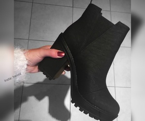 black, boots, and fall image