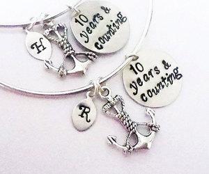 etsy, bangle bracelet, and anchor bracelet image