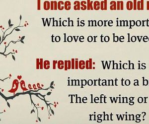question, quote, and wings image
