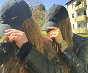 girl, nike, and bff image