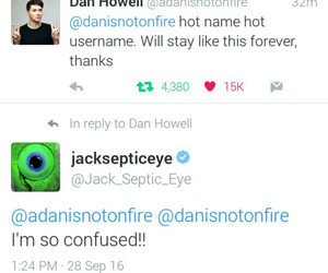 funny, twitter, and danisnotonfire image