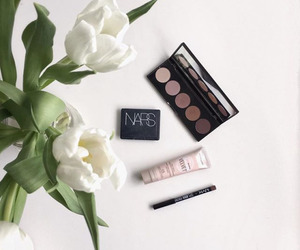 flowers, nars, and makeup image