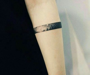 tattoo, forest, and arm image