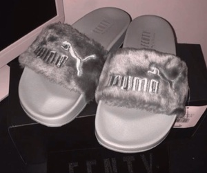 puma, fur, and rihanna image