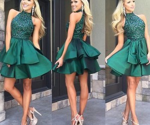 high neck prom dresses, sequin homecoming dresses, and dress image
