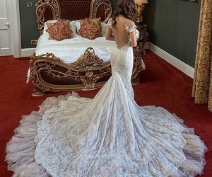 girl, dress, and wedding image