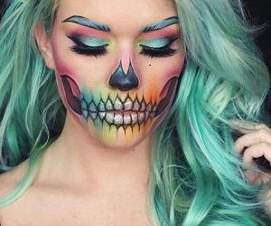 colors, Halloween, and makeup image