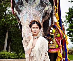 colourful, dress, and elephant image