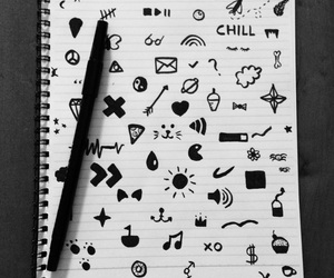 doodle, doodles, and drawing image