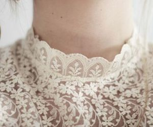 white, lace, and vintage image
