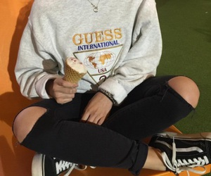 vans, guess, and style image