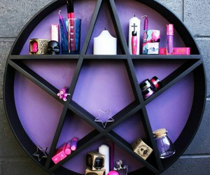 pentagram, purple, and witch image