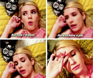 emma roberts, quotes, and scream queens image