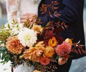 bouquet, wedding, and fall image