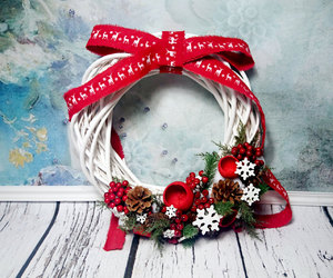 christmas, poletsy, and wickerwreath image