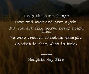 Lyrics, memphis may fire, and mmf image