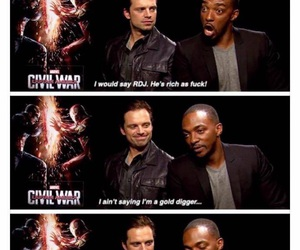 Marvel, robert downey jr, and sebastian stan image