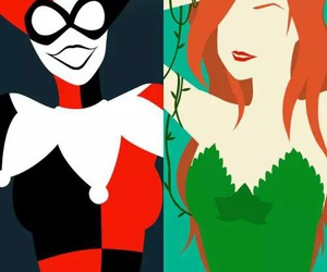 background, harley quinn, and poison ivy image