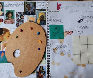 art, journal, and paint image