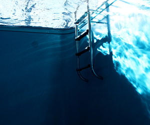 water, pool, and blue image