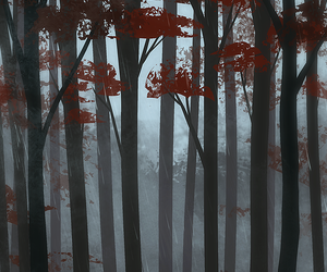autumn, forest, and Ilustration image