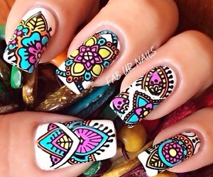 nails, colors, and beauty image