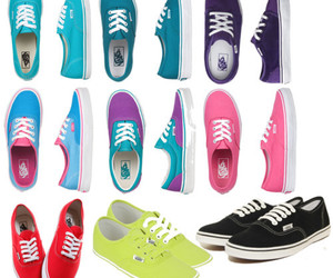 vans, colorful, and pink image