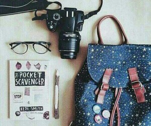 camera, glasses, and bag image