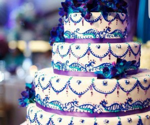 cake, colors, and wedding cake image
